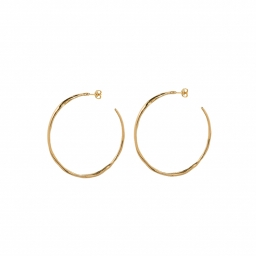 ORGANIC shaped hoops gold
